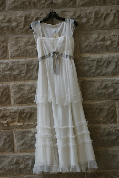 Eggshell Chiffon Dress