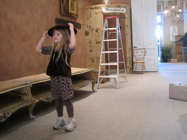 Cora Modeling Hat