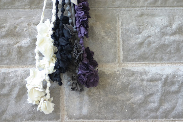 Cotton flower Necklaces