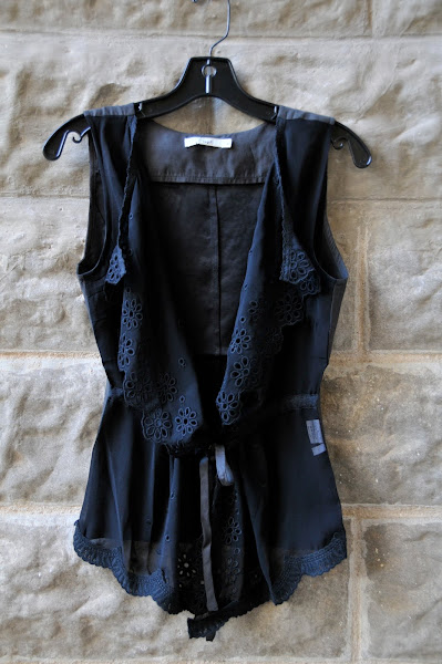 Black Vest with lace