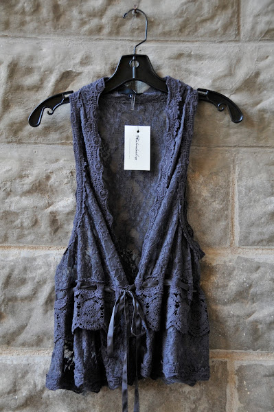 Lace vest, $68
