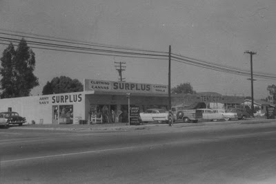 army navy surplus store garden grove 1950s