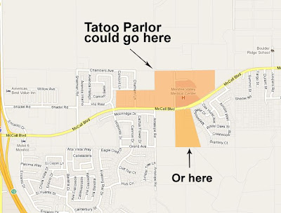 menifee tattoo parlor map
