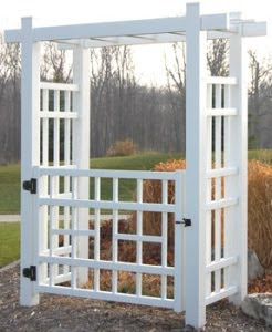 wedding arbor with gate
