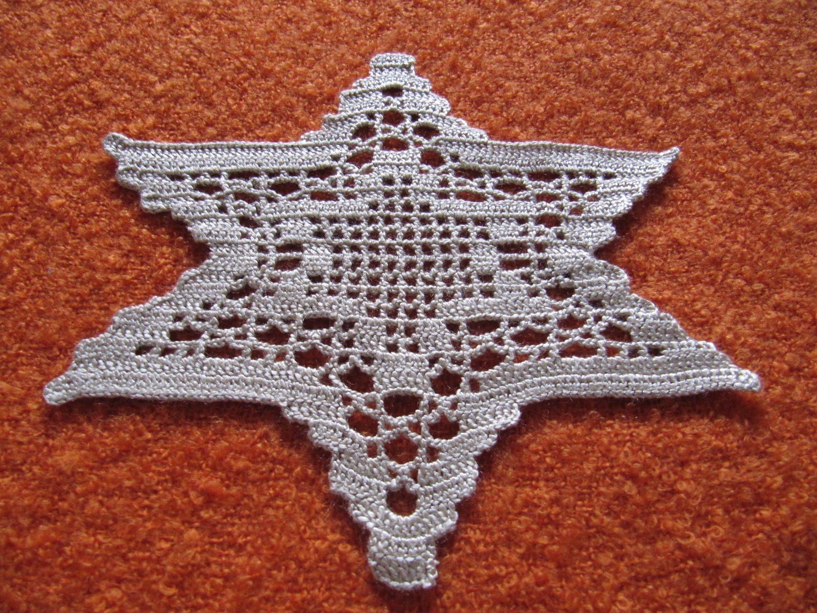 Labores de mari angeles adornos navide os estrellas de - Adornos navidenos crochet ...