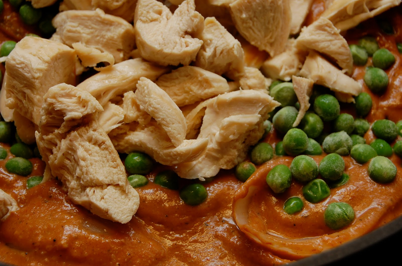 ... : Daring Cooks: Nut Butter & Chicken with Curried Tomato Almond Sauce