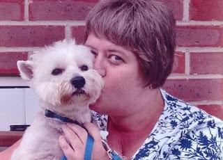 Amanda with her dog Benji