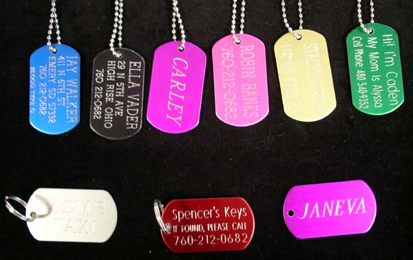custom military dog tag demille steel jewelry