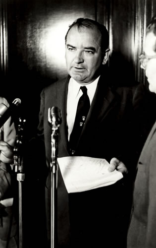 the aggressive nature of senator joseph r mccarthy Historians date the beginning of the mccarthy era as february 9, 1950, when senator joseph r mccarthy gave a speech in wheeling, west virginia, as part of a lincoln day weekend celebration in that speech the junior senator from wisconsin claimed to have a list of state department employees who .