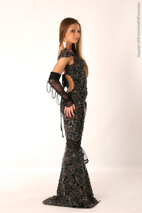 Rochie lunga din denim combinat cu tul-1200Ron - VANDUTA