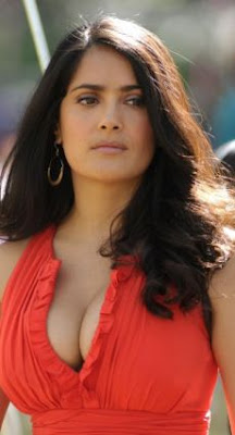 Salma Hayek Boobs Busting Out