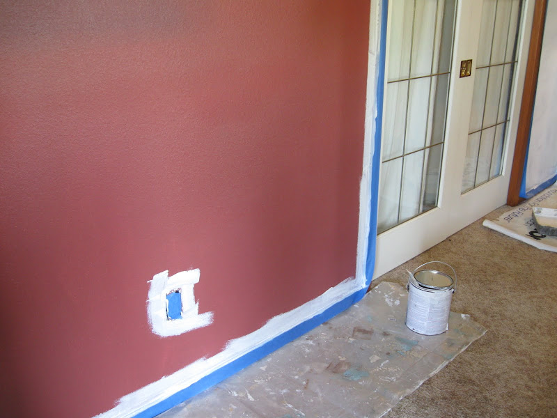 Burgundy Painted Living Rooms