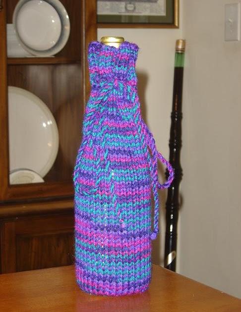Wine Bottle Cozy Knitting Pattern : Taras Knits: Wine Bottle Cozy