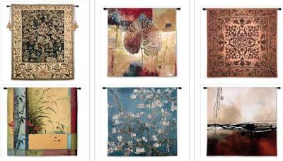 tapisserie murale ornementale bayeux moderne. Black Bedroom Furniture Sets. Home Design Ideas
