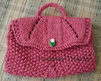 Bolsinha em tricot