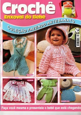 Download - Revista  Crochet Enxoval do bebê