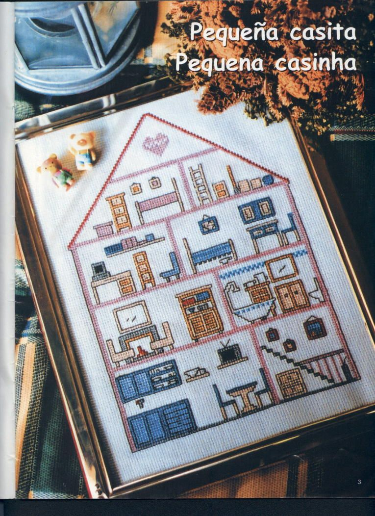 embroidered pictures: tiny house