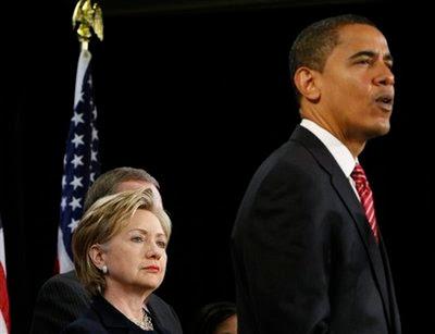 باراك أوباما و هيلارى كلينتون