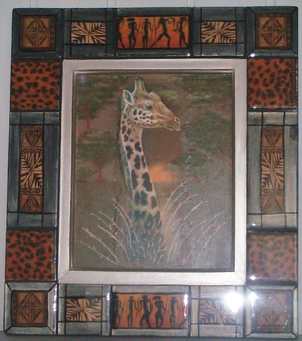 cuadro jirafa etnico