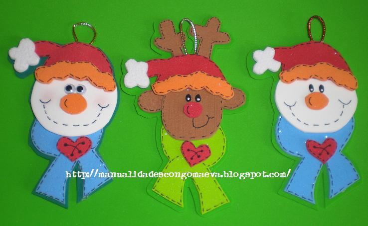 zuqueca: Manualidades navideñas con goma eva