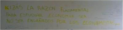 Quizás la razón fundamental para estudiar economía sea no ser engañados por los economistas