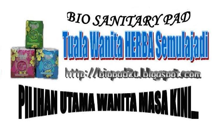 Bio Sanitary Pad - Tuala Wanita HERBA Semulajadi