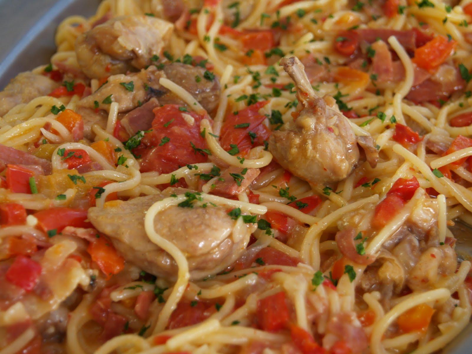 Pochas con codornices sin pochas pero con espaguetis - Alubias con codornices ...