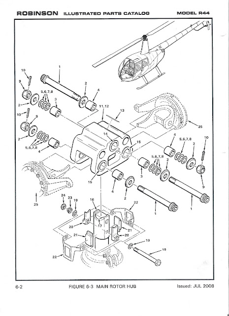 Drawings Robinson R44 Helicopter on swashplate design