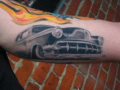 Noggdesign hot rod tattoos for Hot rod tattoos