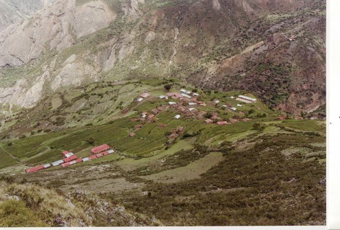 Vista Panoramica de Pichihua capital del Distrito Justo Apu Sahuaraura
