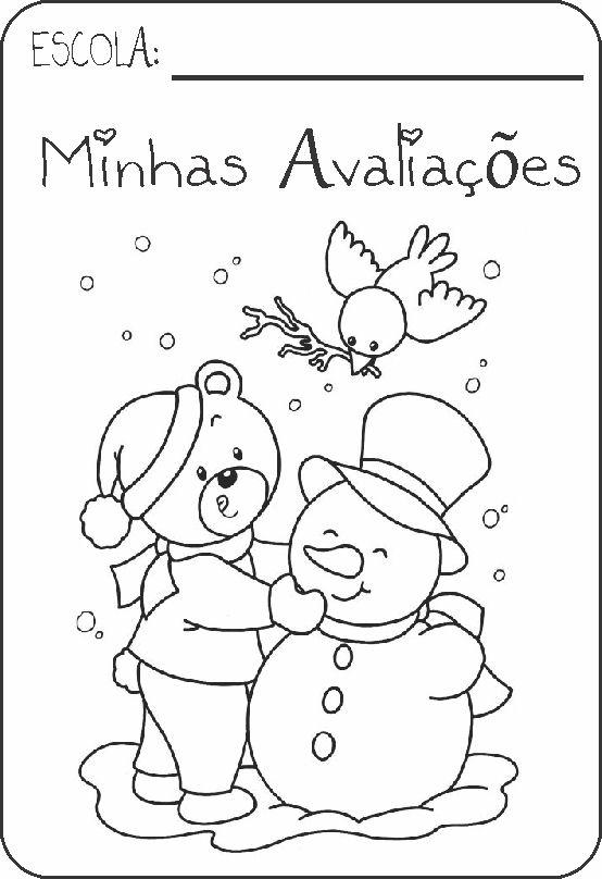 Capas Para Provas   Tema Natal