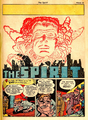 The comic book superhero THE SPIRIT is shown in this vintage newspaper comic page