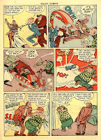 Great comic book sound effects are seen in this golden age comic book page.