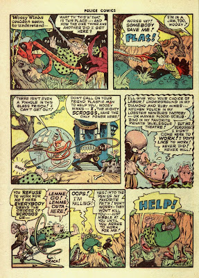 A cartoon ightmare is shown on this valuable comic page by Jack Cole.