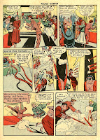 A cartoon criminal gang enagges in a gun battle with Plastic Man in this classic collector's comic book page by Alex Kotzky.