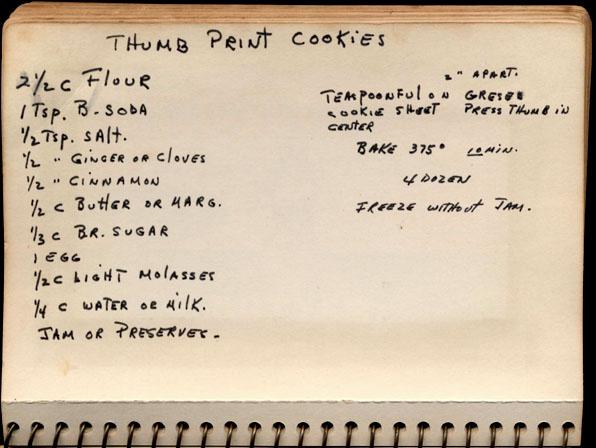 Memere S Favorite Recipes Thumbprint Cookies