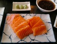 Salmon Sashimi. Yum!