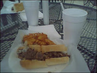 LaSpadas Cheese Steak and Fries