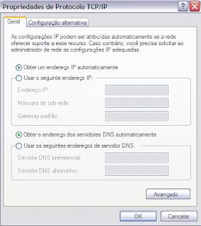 Configuração do Protocolo TCP/IP