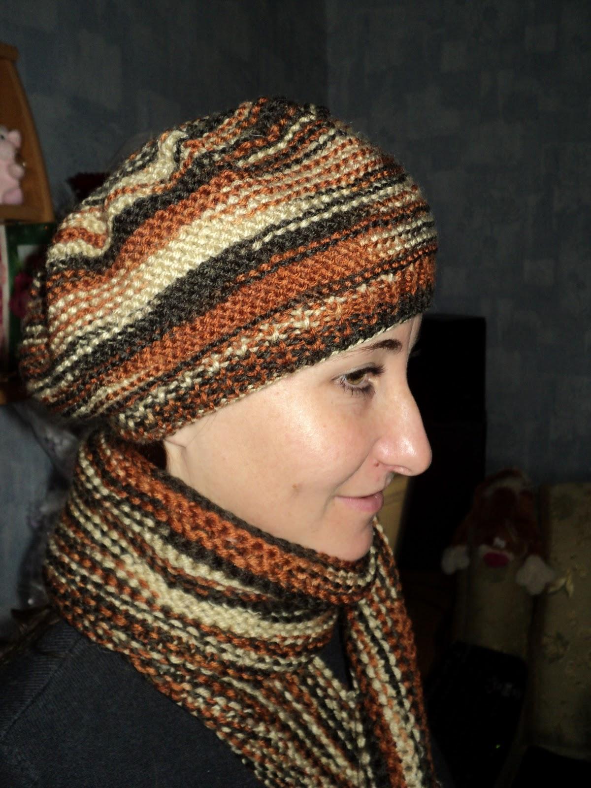 Вязание шапок нет из ниток меланж 27