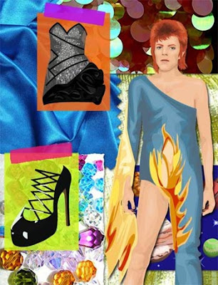 Balmain Dress - David Bowie Doll