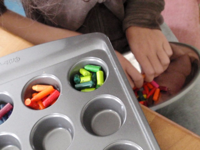 natural kids crafts with kids baked crayons