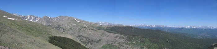View on the way up Mt Evans