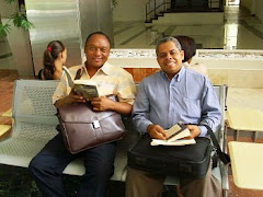 Con mi amigo y maestro Miguel Antonio Jiménez