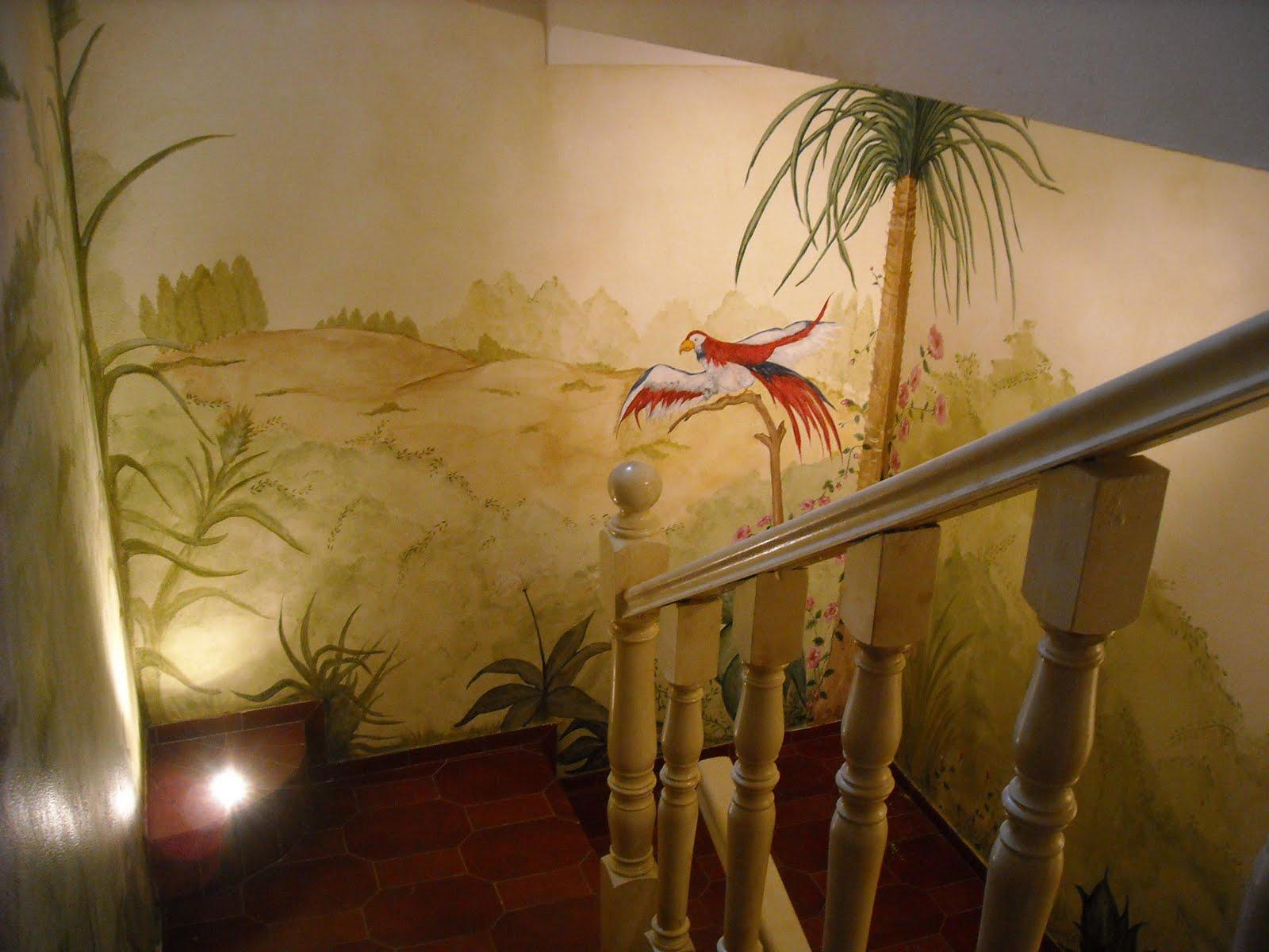 Tuttiaquarela pintura decorativa em parede iii - Paredes decorativas interiores ...