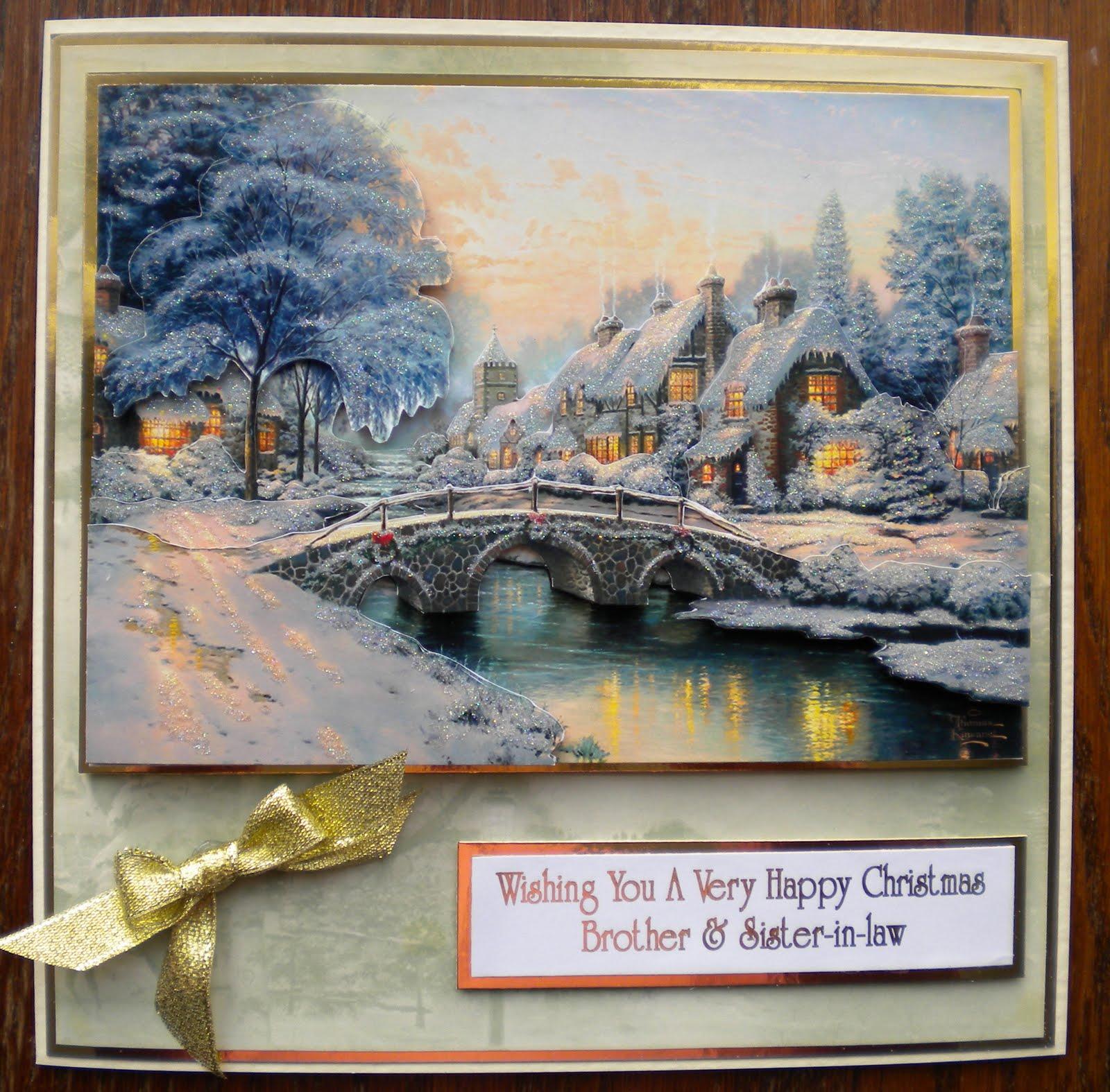 Sue\'s Crafty Corner: Thomas Kinkade Christmas