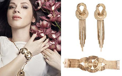 Latest Fashion Accessories by Lara Bohinc, above, wears designs from a past collection. Right: Classic Bohinc pieces