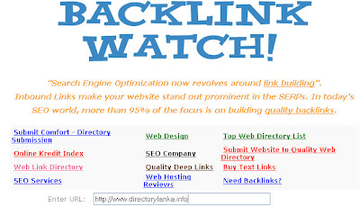 Backlinks watching tool