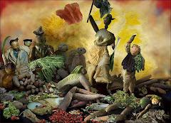 Artista chinesa recria obras famosas com legumes