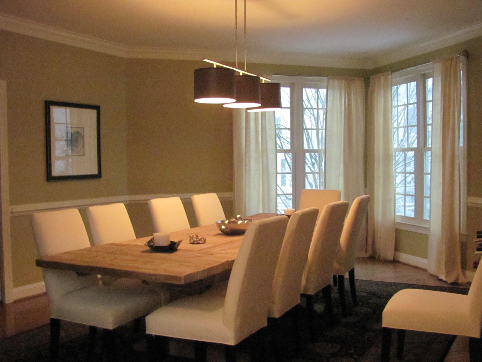 Dining table from Restoration Hardware. Modern 3 Pendant Light